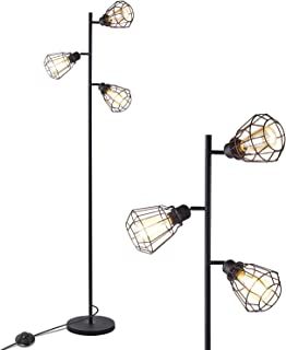 Anbomo LED Industrie-Stehlampe, 3 Kopflampen, Lampe für Wohnzimmer, rustikale Stehlampe mit 3 Vintage Edison Glühbirnen - New price starts from 69,99 $ and the used price starts from 62,97 $,Kaufpreis 62,97,datum 28.01.2020 23:41:37,Website amazon.com